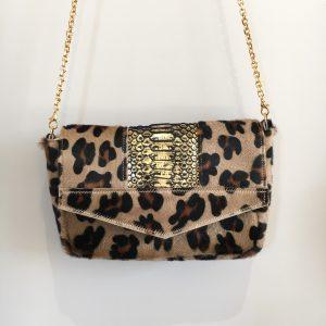 Besace Agathe léopard