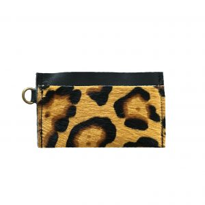 Porte-carte léopard beige