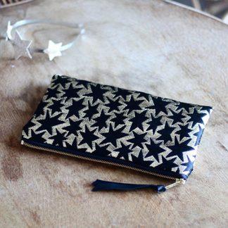 alix colombani pochette jacquard etoiles